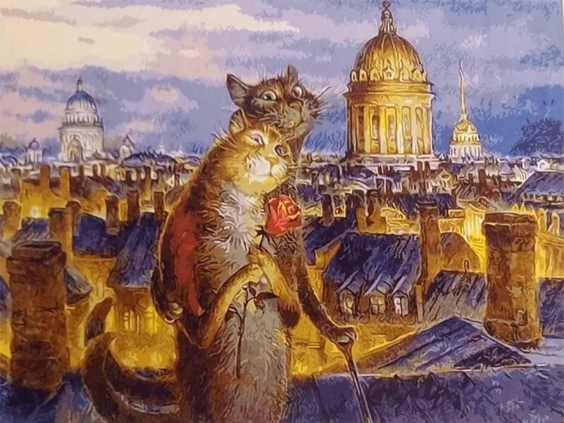 Открытки с питерскими котами владимира румянцева