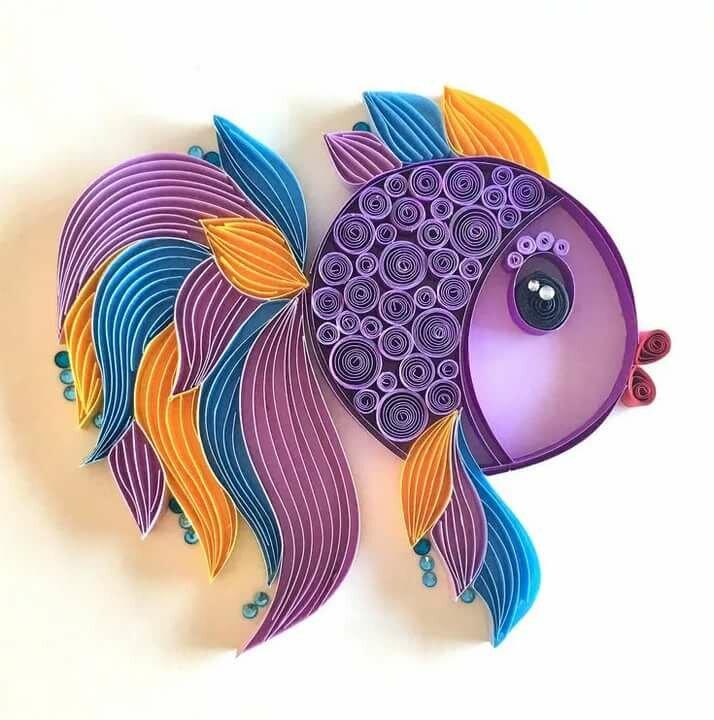 Рыбка из открыток