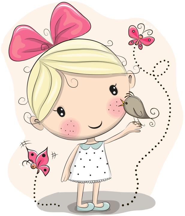 Аниме, на открытке нарисована девочка