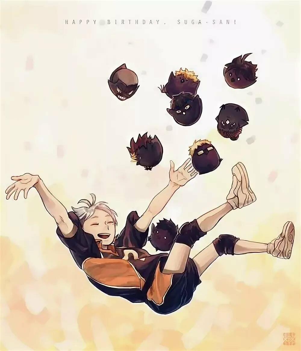 Картинки воронов из аниме волейбол