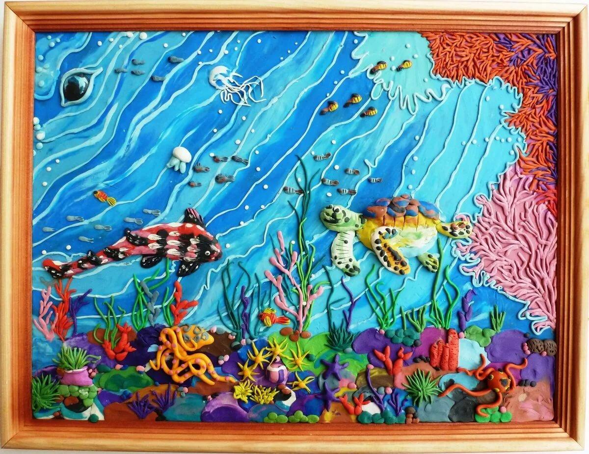 Аппликация подводный мир картинки