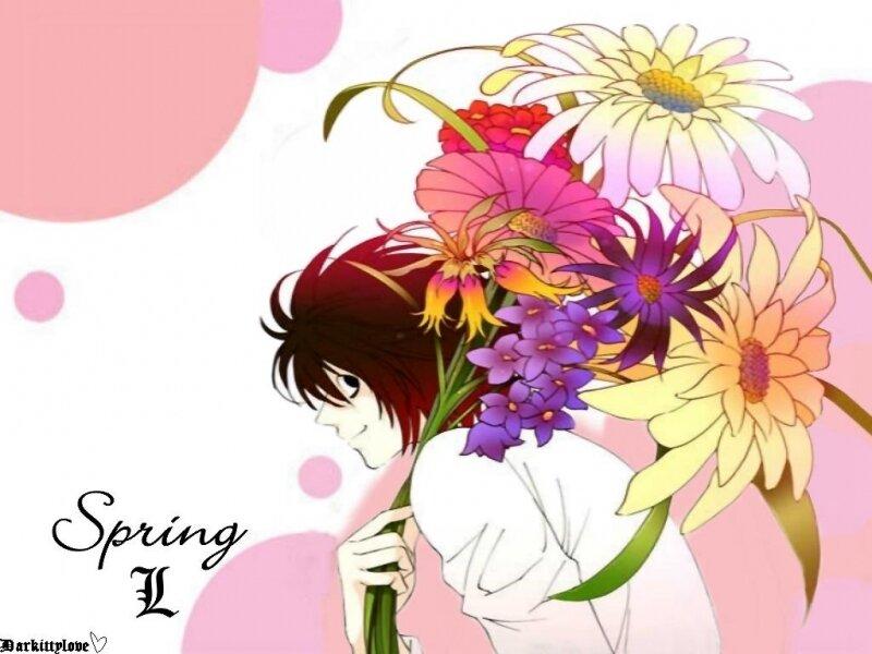 Красивые аниме открытки с 8 марта, пожелание