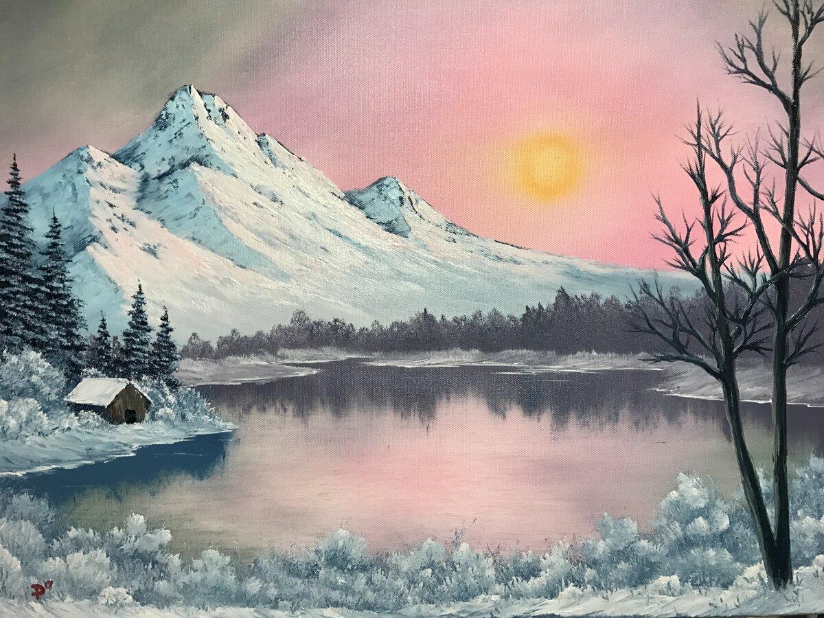 Красивые картинки зимы для срисовки