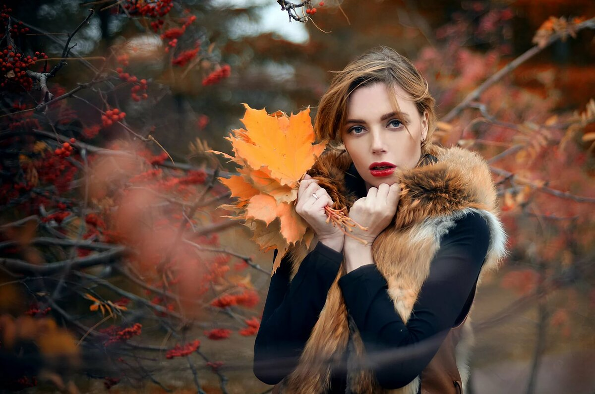 Картинки девушка осень и девушка зима