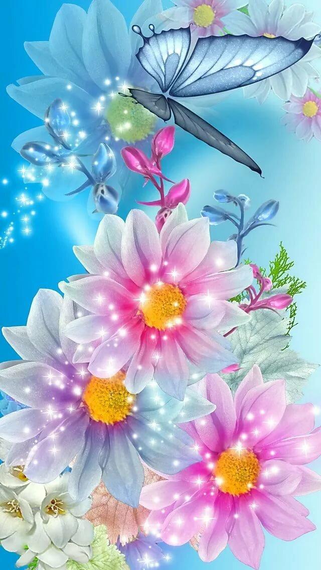 Картинки для телефона цветы анимация, любимой