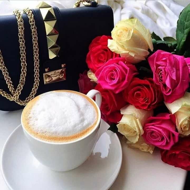 красивые картинки с кофе и цветами доброе нас позитивим