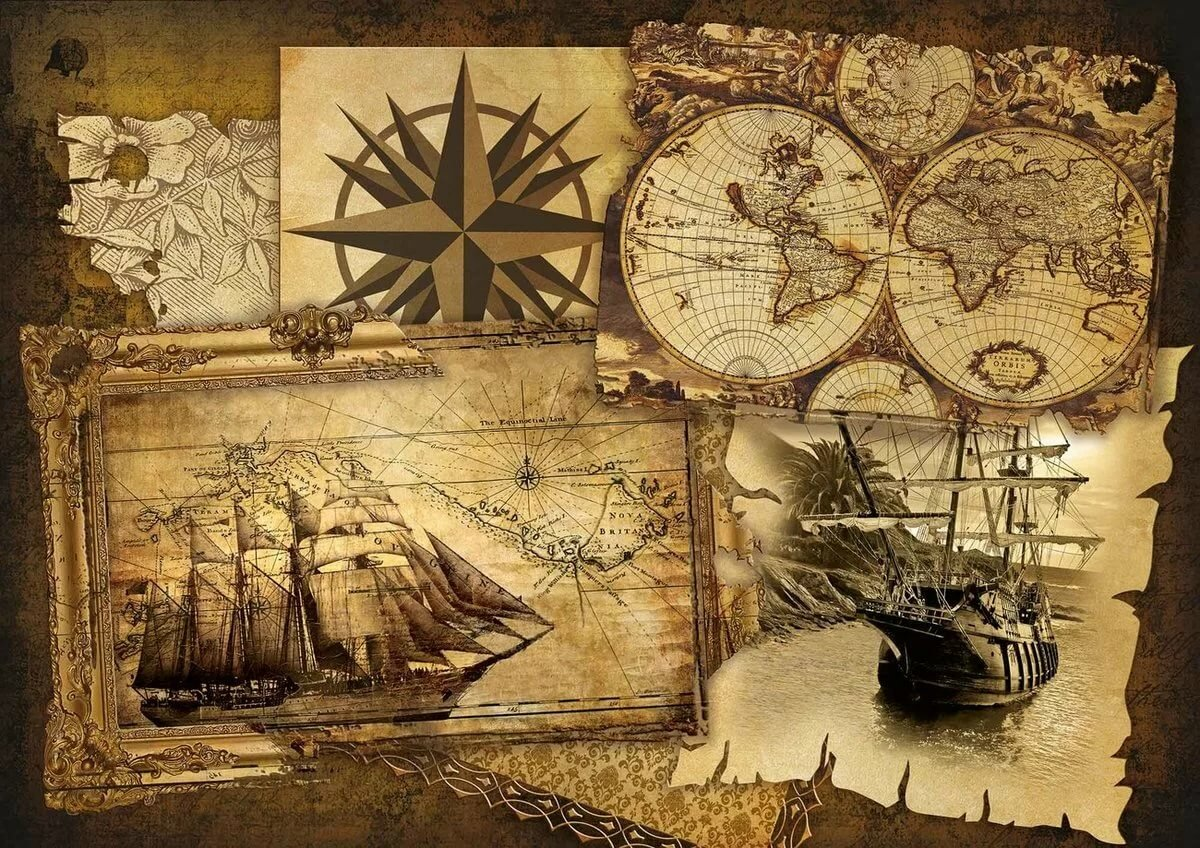 Картинки с морскими картами