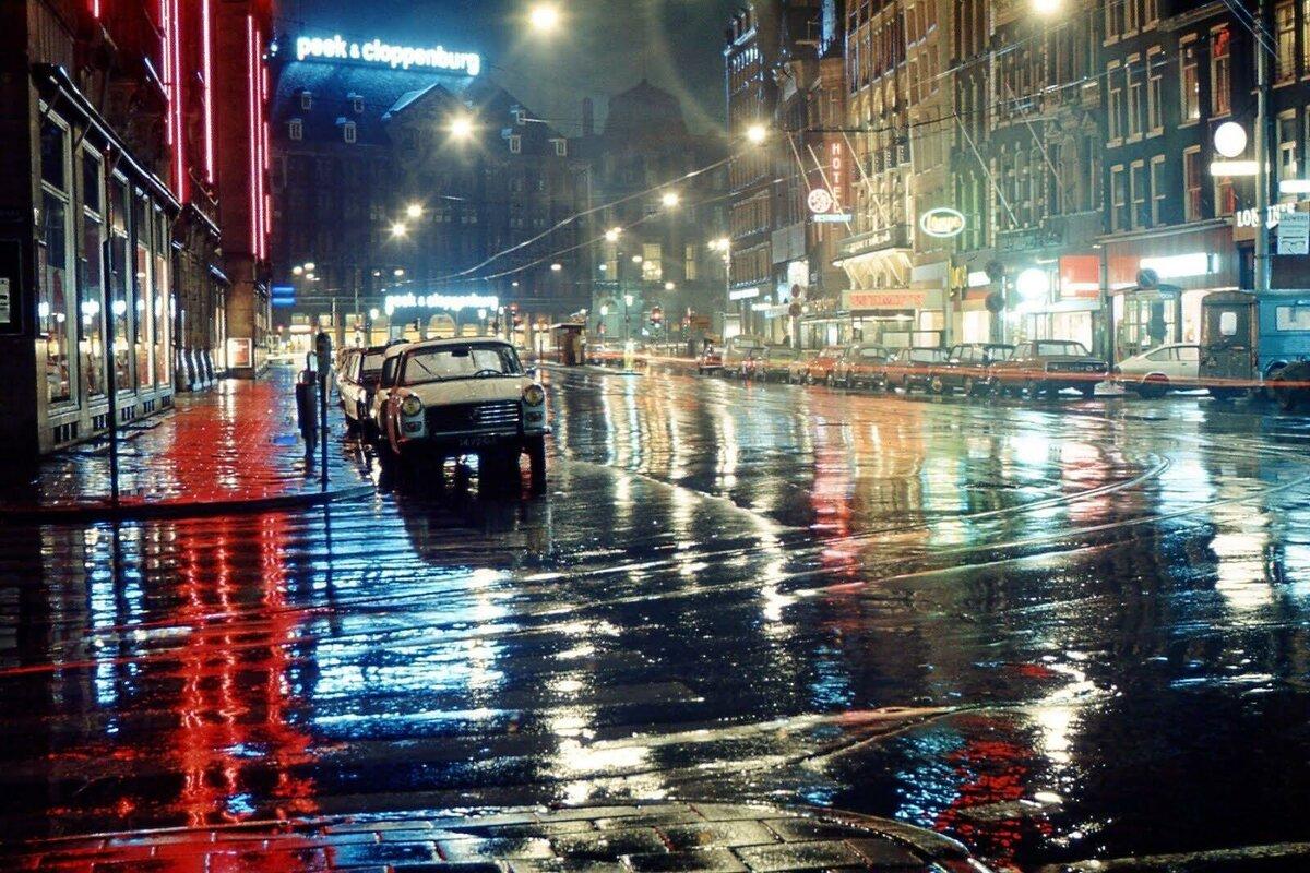 Картинки дождь в городе ночью