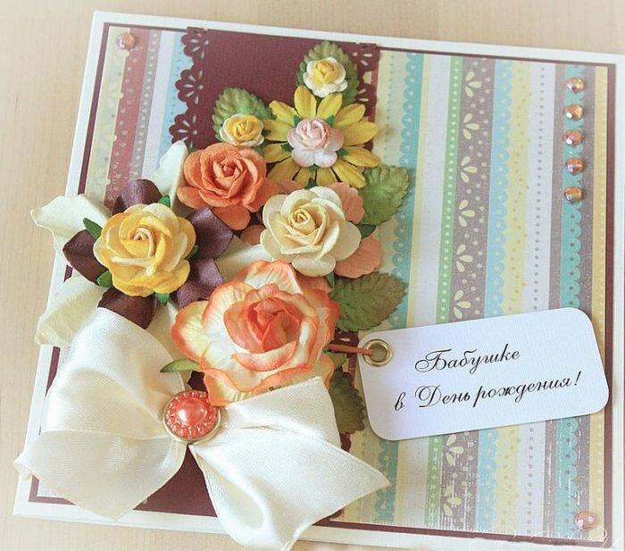 Креативные идеи открыток для бабушки, изготовить открытки новому