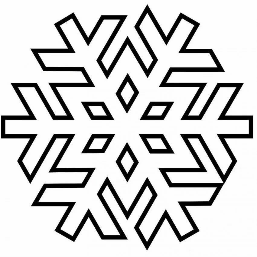 снежинки новогодние картинки для распечатки эти