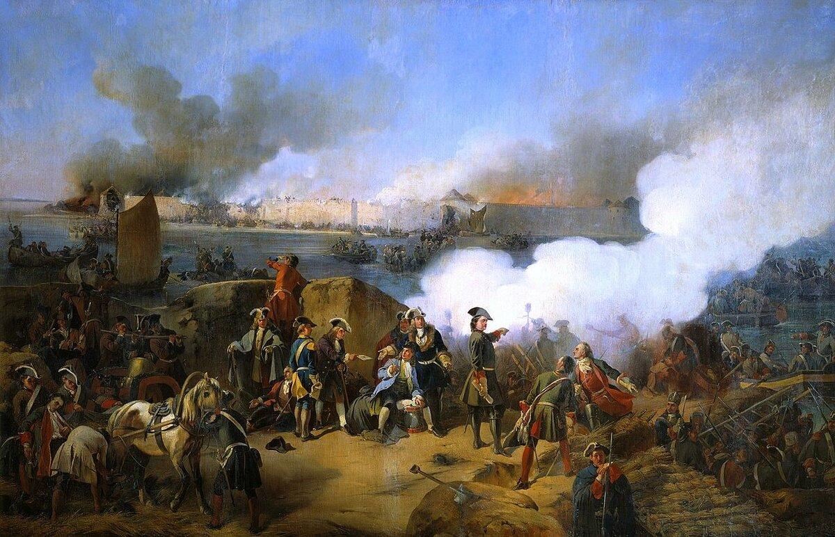 22 октября 1702 года русские войска взяли шведскую крепость Нотебург