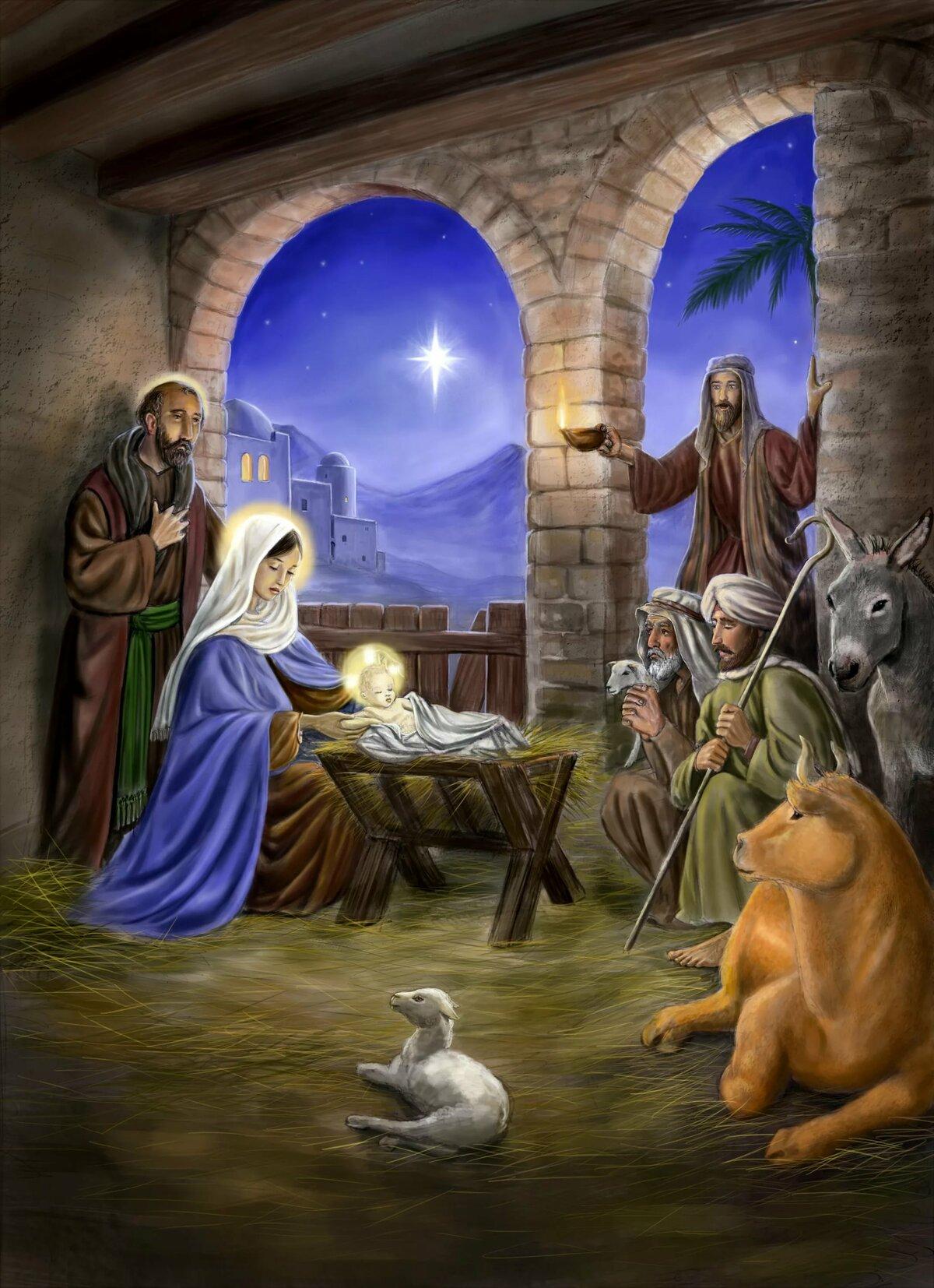 Рождение иисуса картинки в хорошем качестве