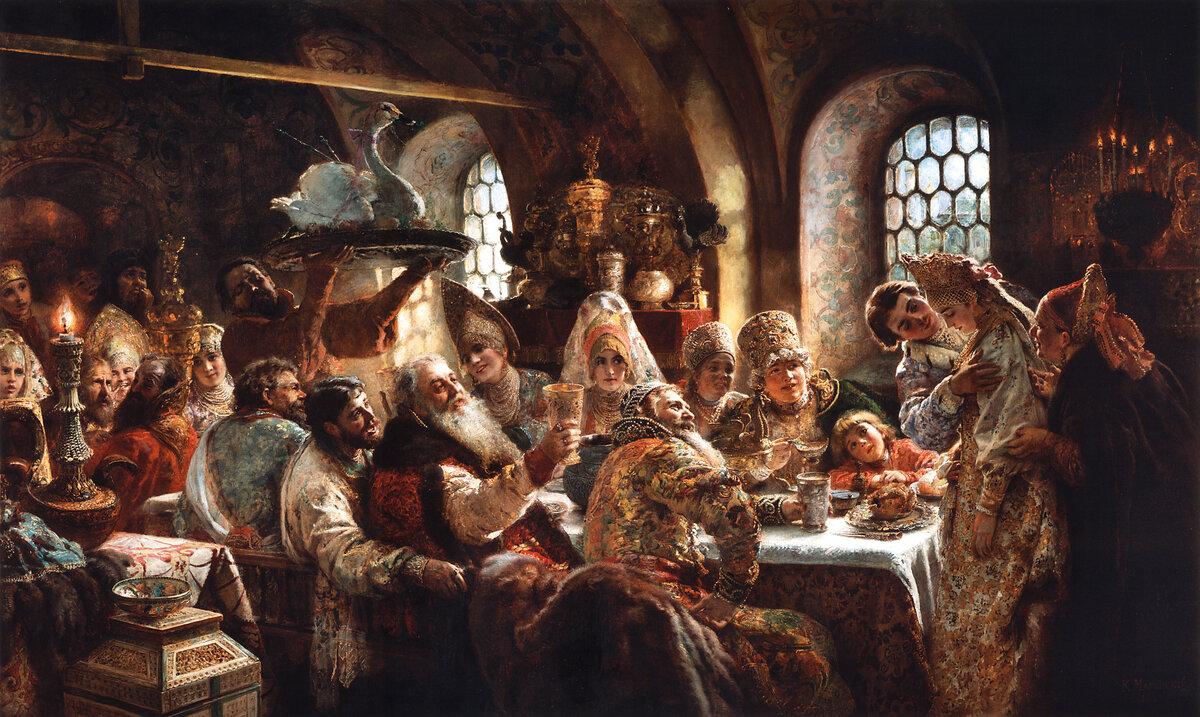 Картинка, открытки с двигающимися изображениями боярского быта
