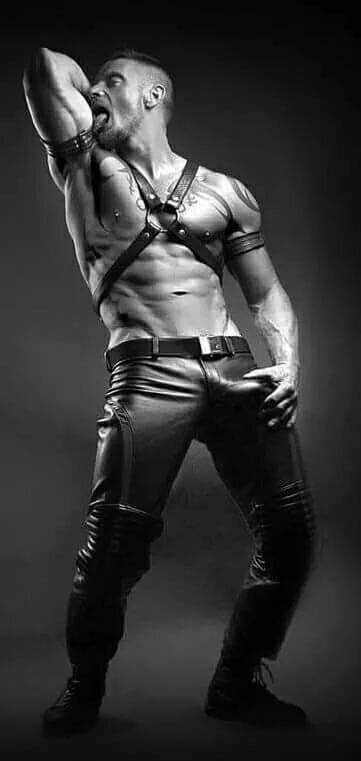 Satan gay leather