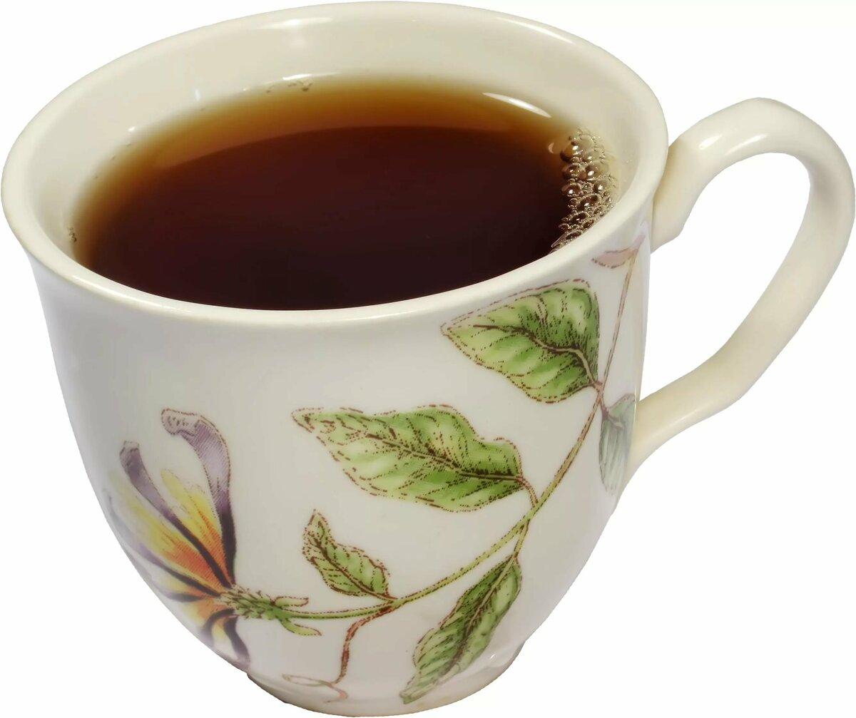 черный чай картинка без фона народе его называют
