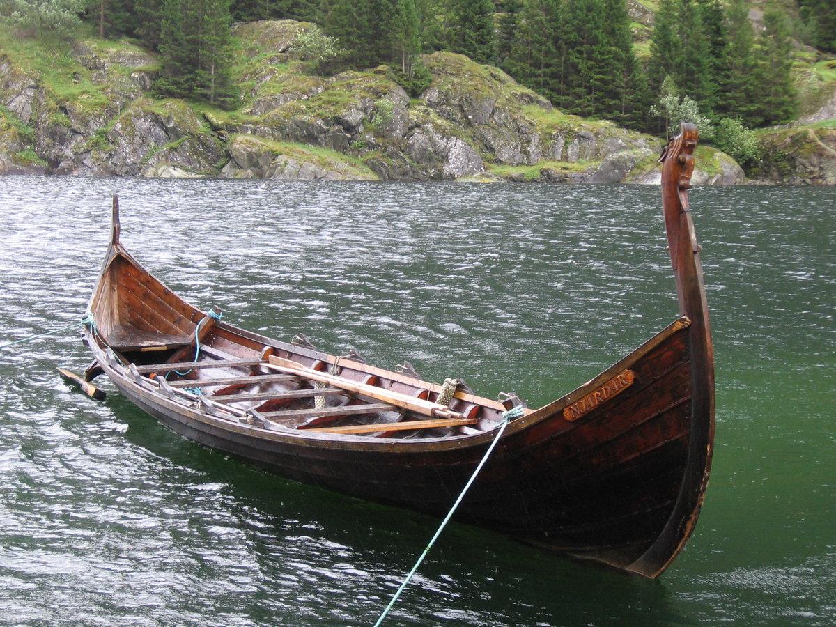 Картинки лодка викингов