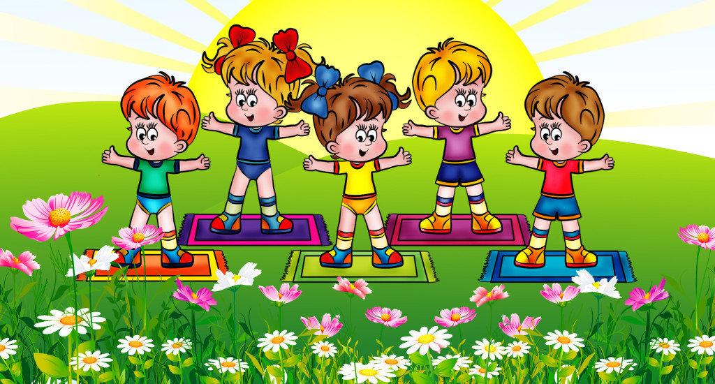 Про, картинки дети и спорт в детском саду