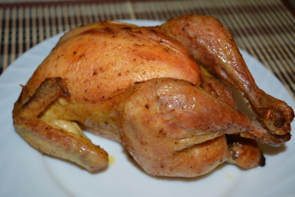 рецепт курицы запеченной в духовке целиком с фото