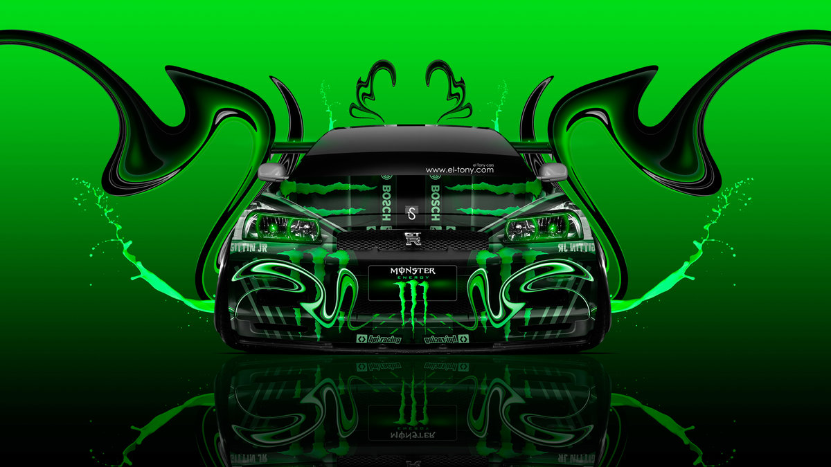 Monster Energy Nissan Skyline GTR R34 JDM Front