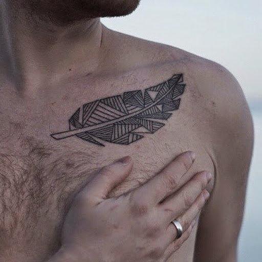 Тату перо: фото, примеры готовых рисунков татуировки - m 20