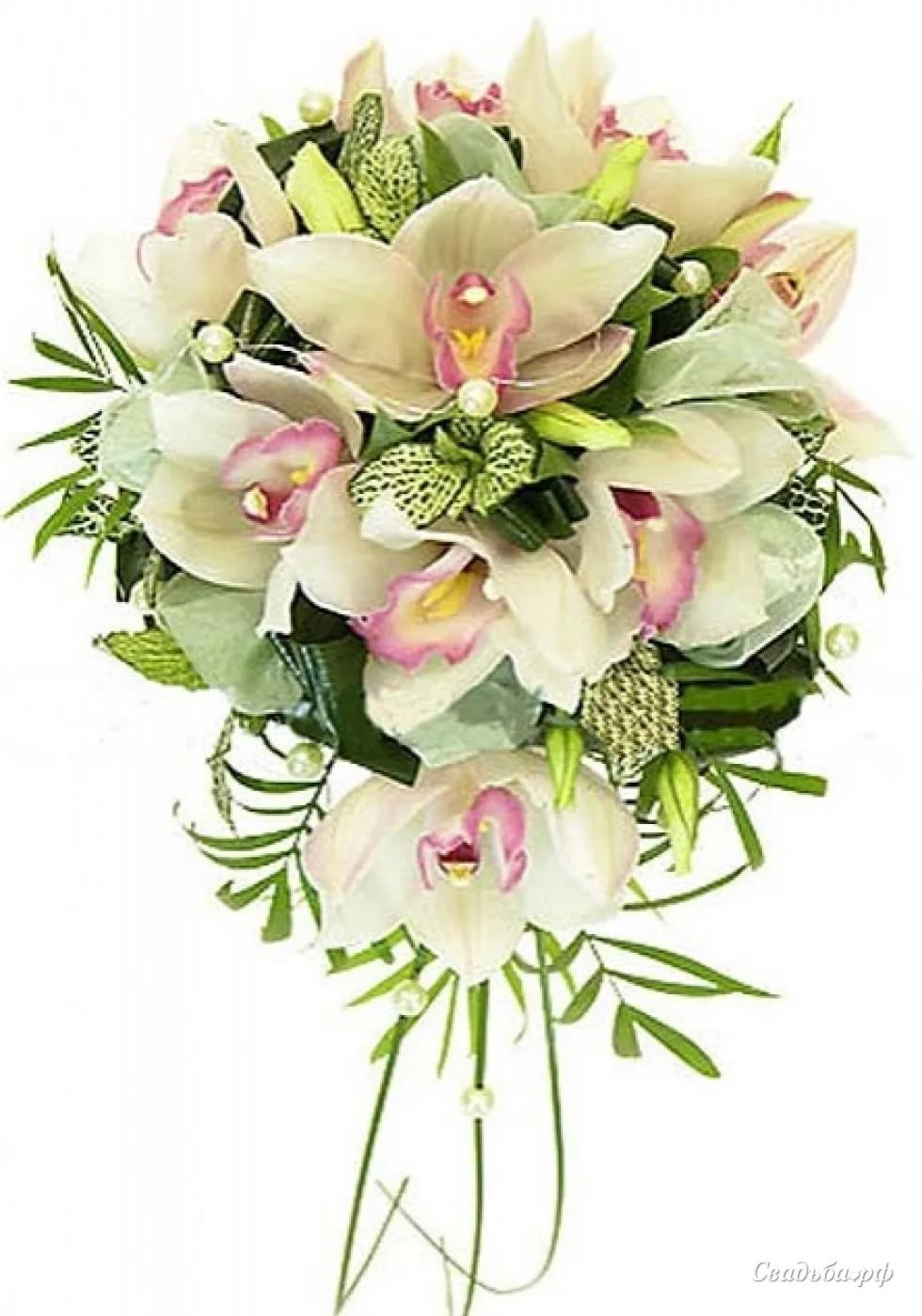 Оскол цветы, европейские букеты из орхидеи каскадом