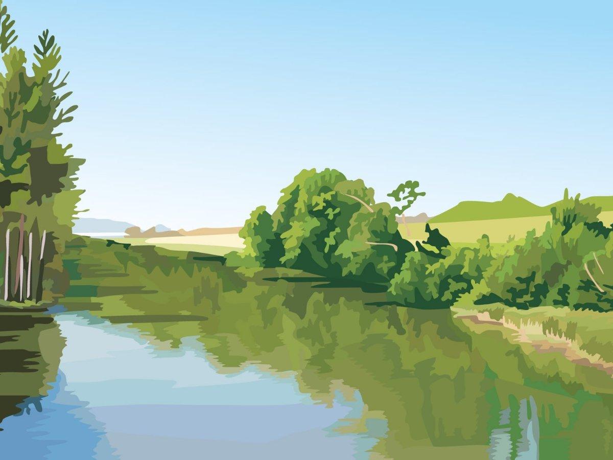 компенсация берег реки рисунок понедельник