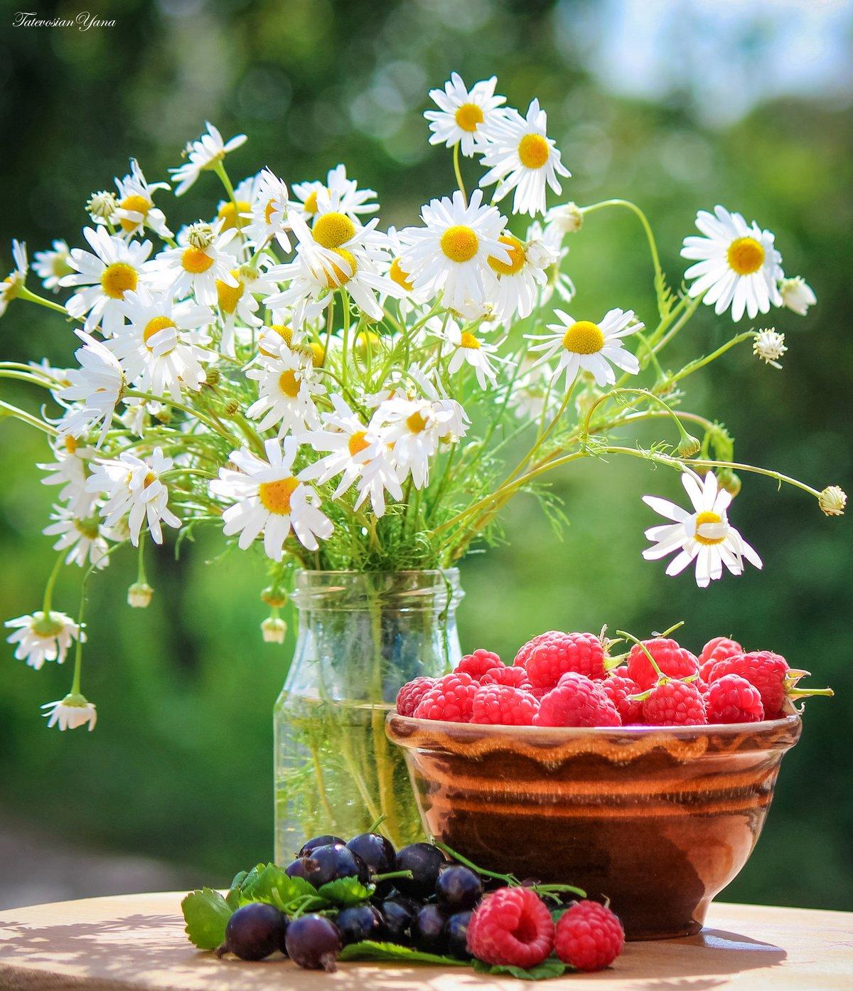 Открытки летние цветы с пожеланиями, поздравлением