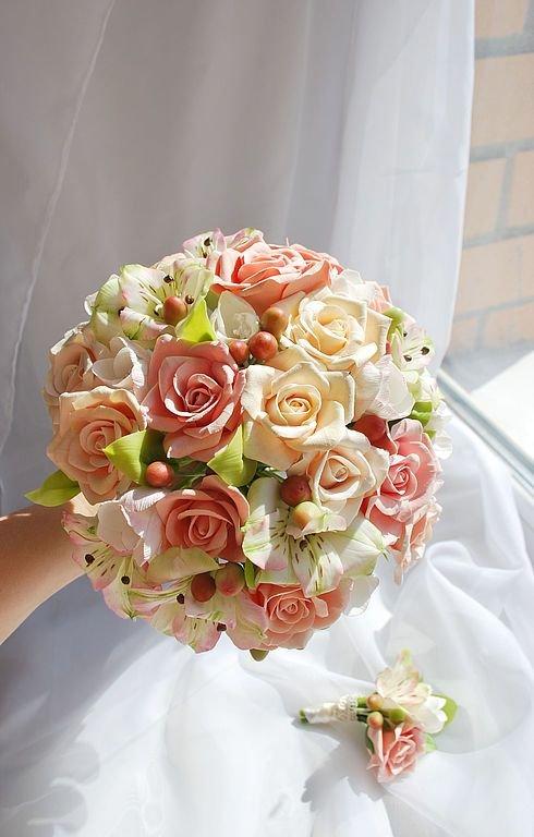 Свадебный букет испанских невесты из розы, интернет магазин