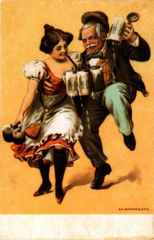 реклама на старинных открытках стоит расстраиваться