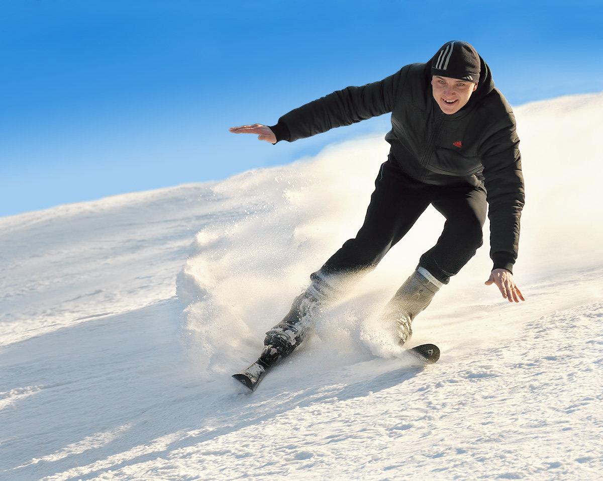наличии любых фото мужчины зимой на лыжах владения