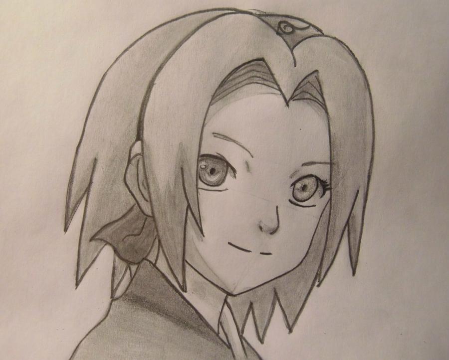 Картинки героев из аниме карандашом