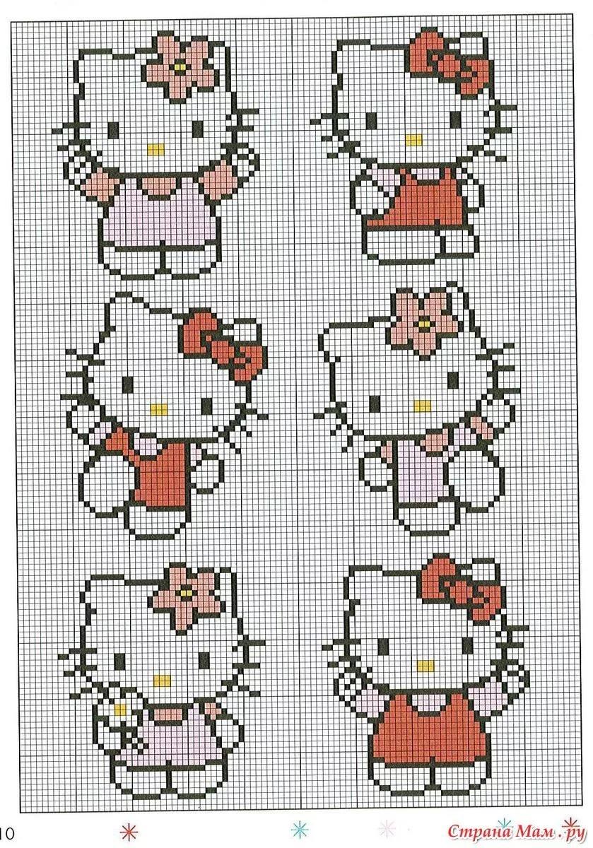 Картинки крестиком схемы маленькие, белый медведь
