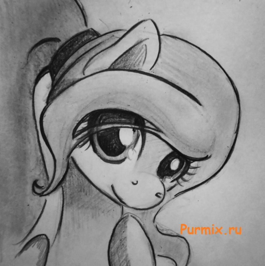 нарисованные фото пони
