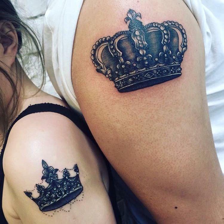 Картинки тату корона для девушки