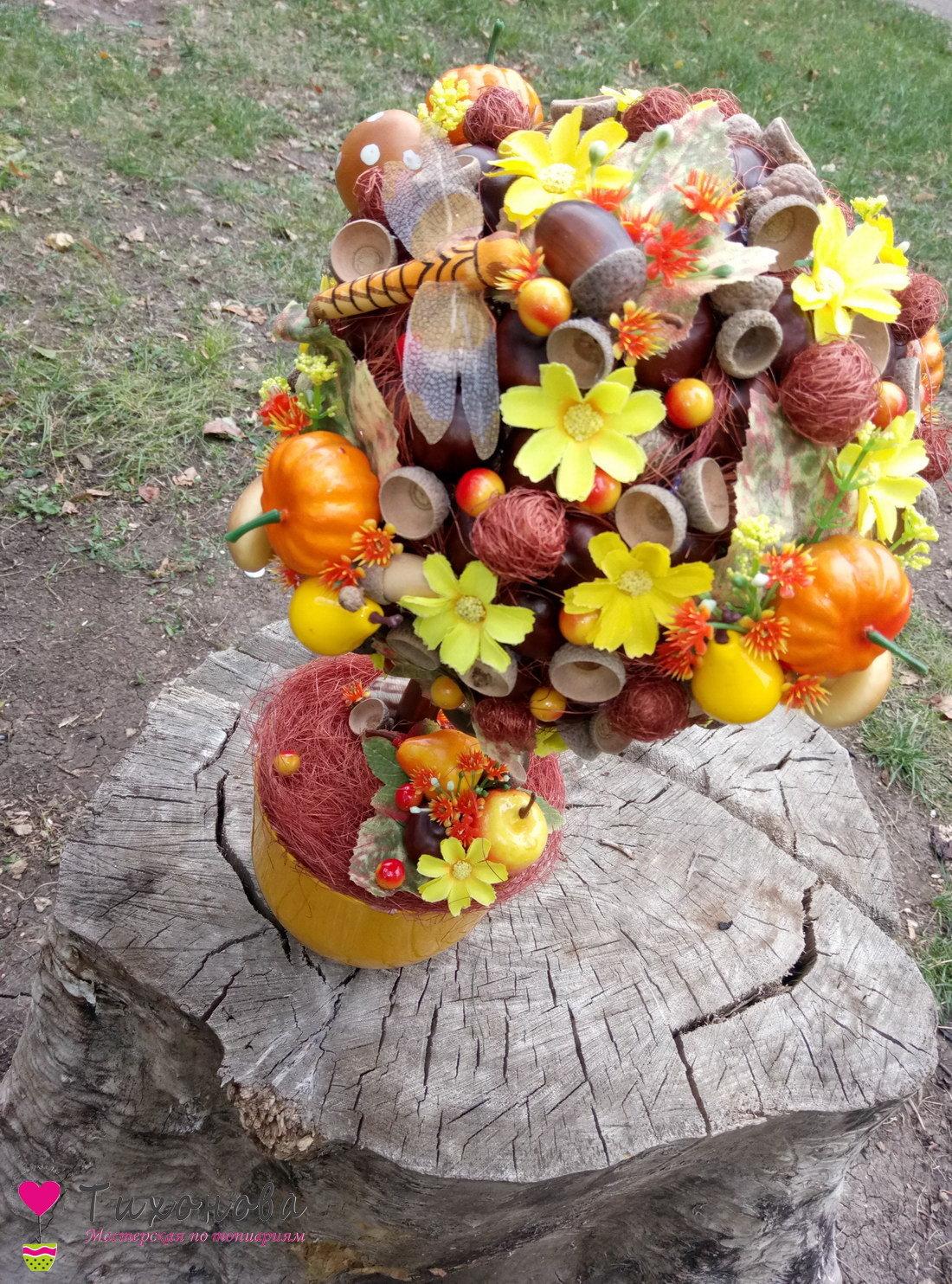 Осеннее дерево своими руками из природного материала