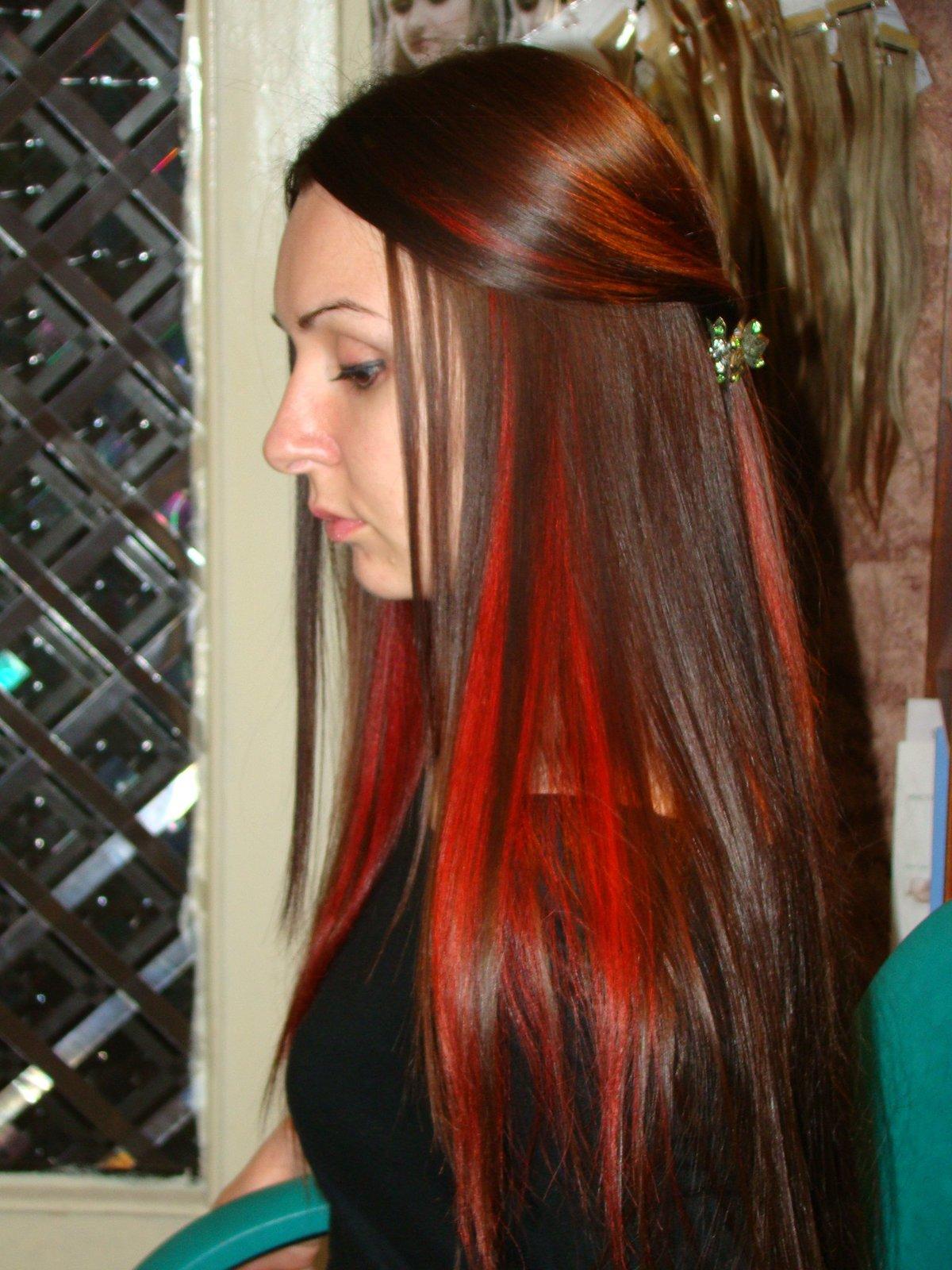 Красная прядь волос картинки