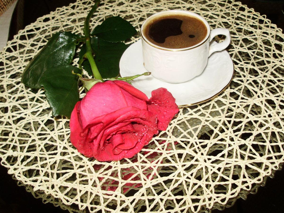 Доброе утро картинка с розами, настроение