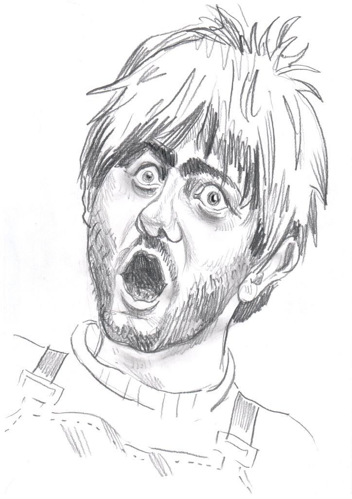 Смешной рисунок человека карандашом, правила изготовления