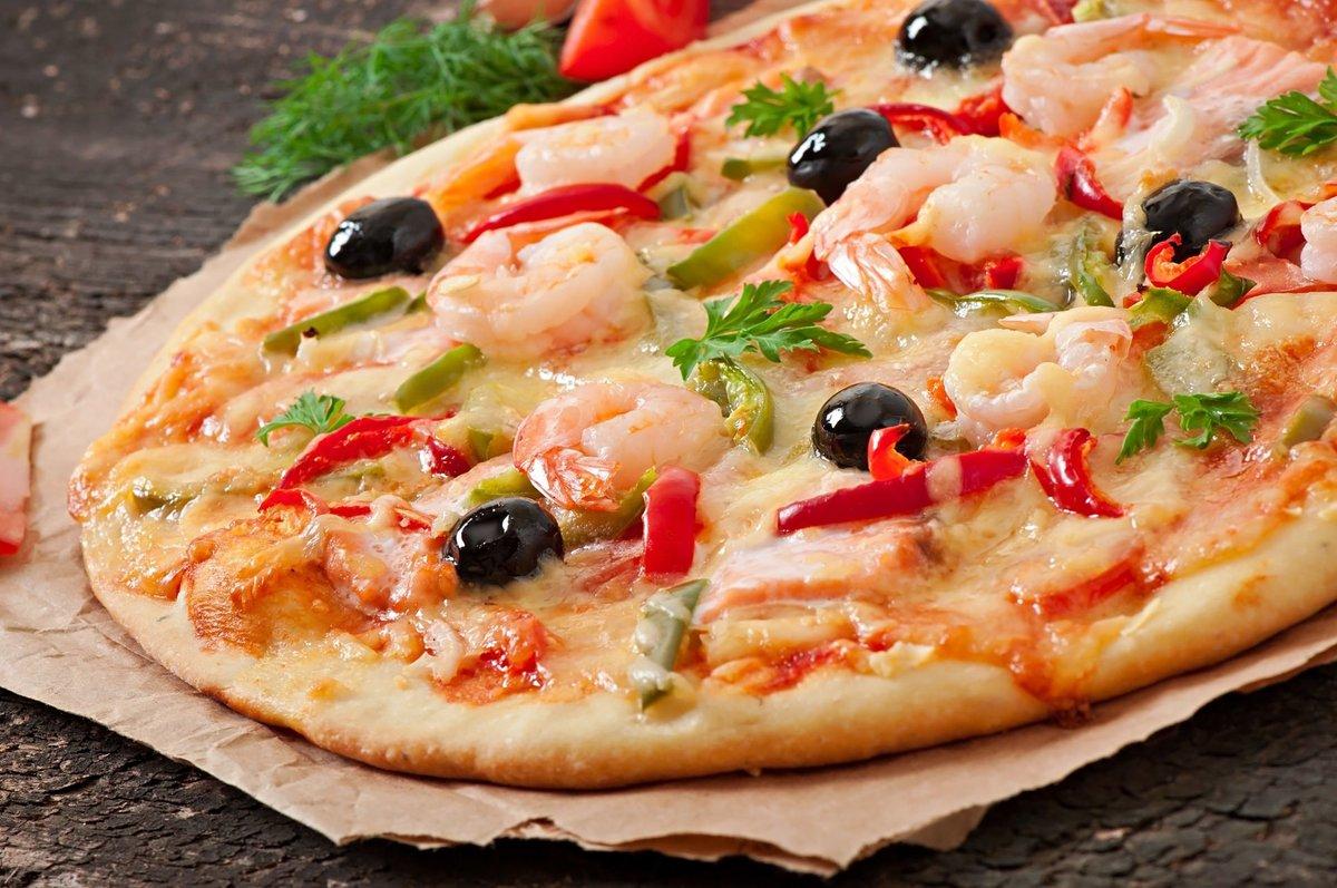 рецепт пиццы с морепродуктами с белым соусом