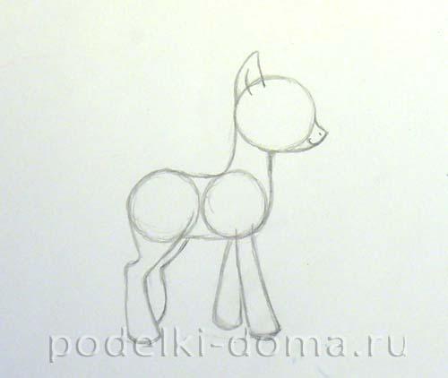пони нарисованные карандашом картинки