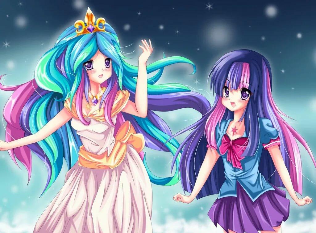 Картинки пони принцессы аниме