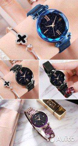 4e1a7ef7 Купить Часы ПОДАРОК и Starry Sky Watch - эксклюзивные женские часы в наборе  с браслетами. Купить Часы ПОДАРОК и