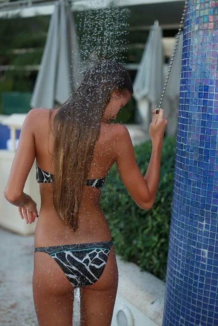 Nude beach shower