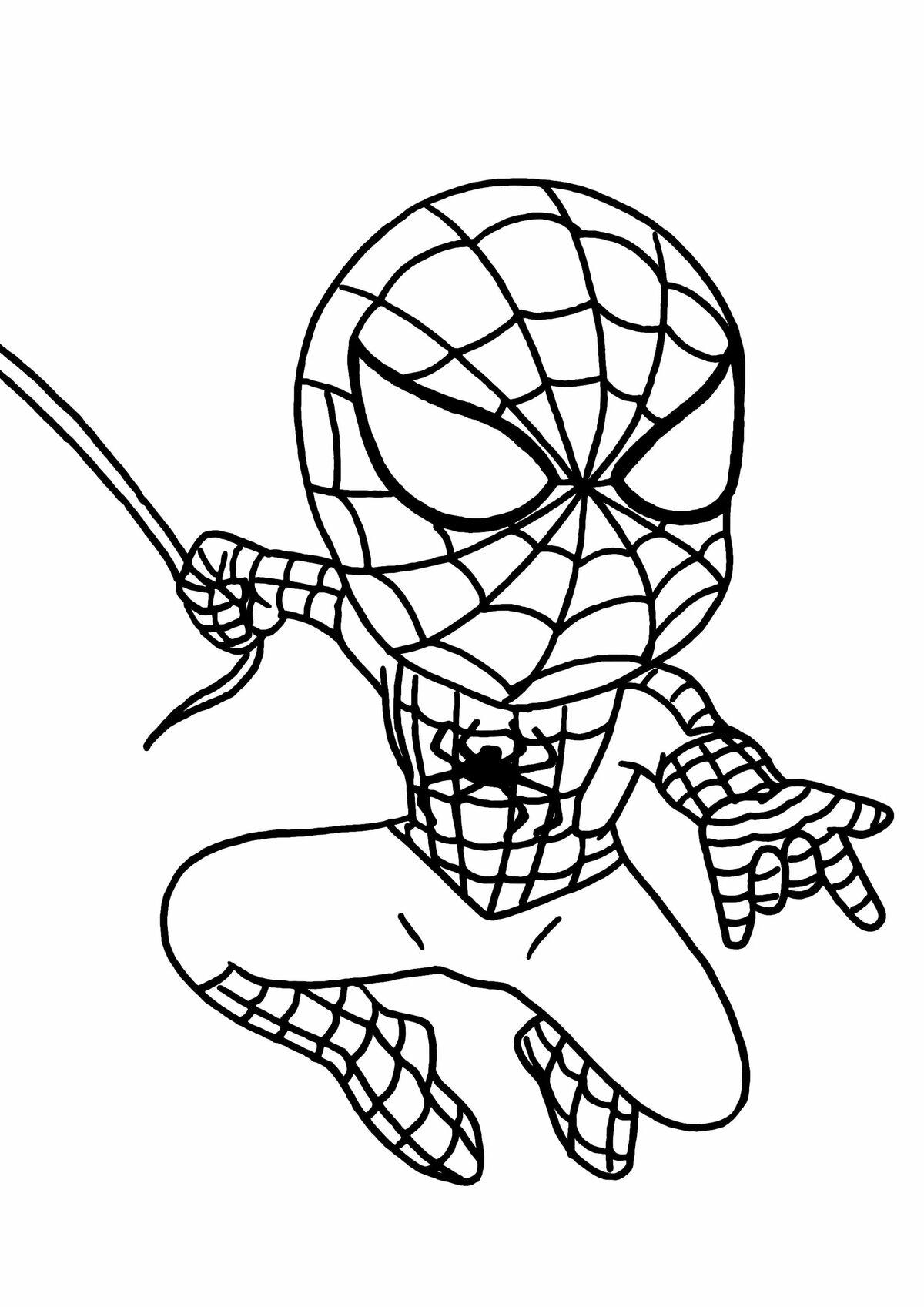 Раскраски Человека-паука для мальчиков. Распечатайте ...