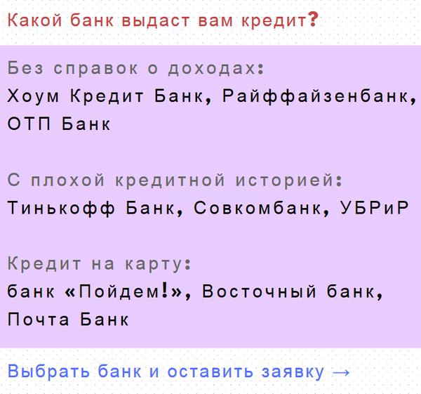 Почта банк кредитная заявка