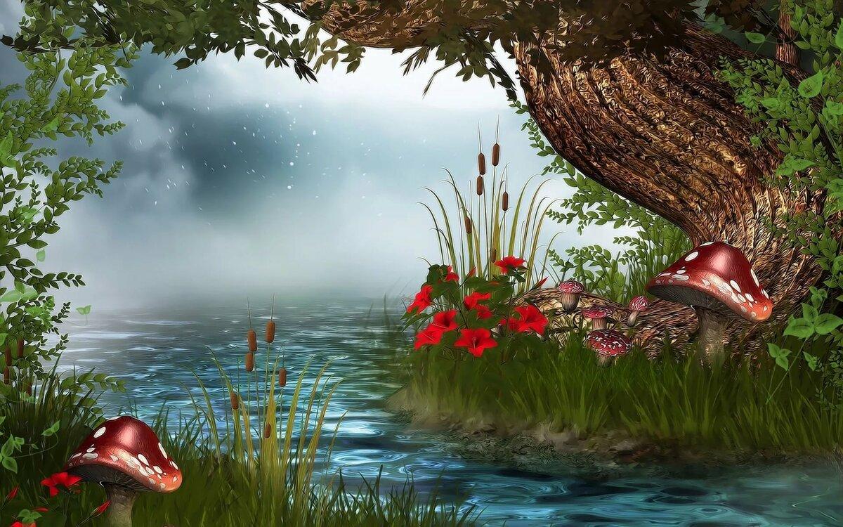 Анимированные картинки пруда