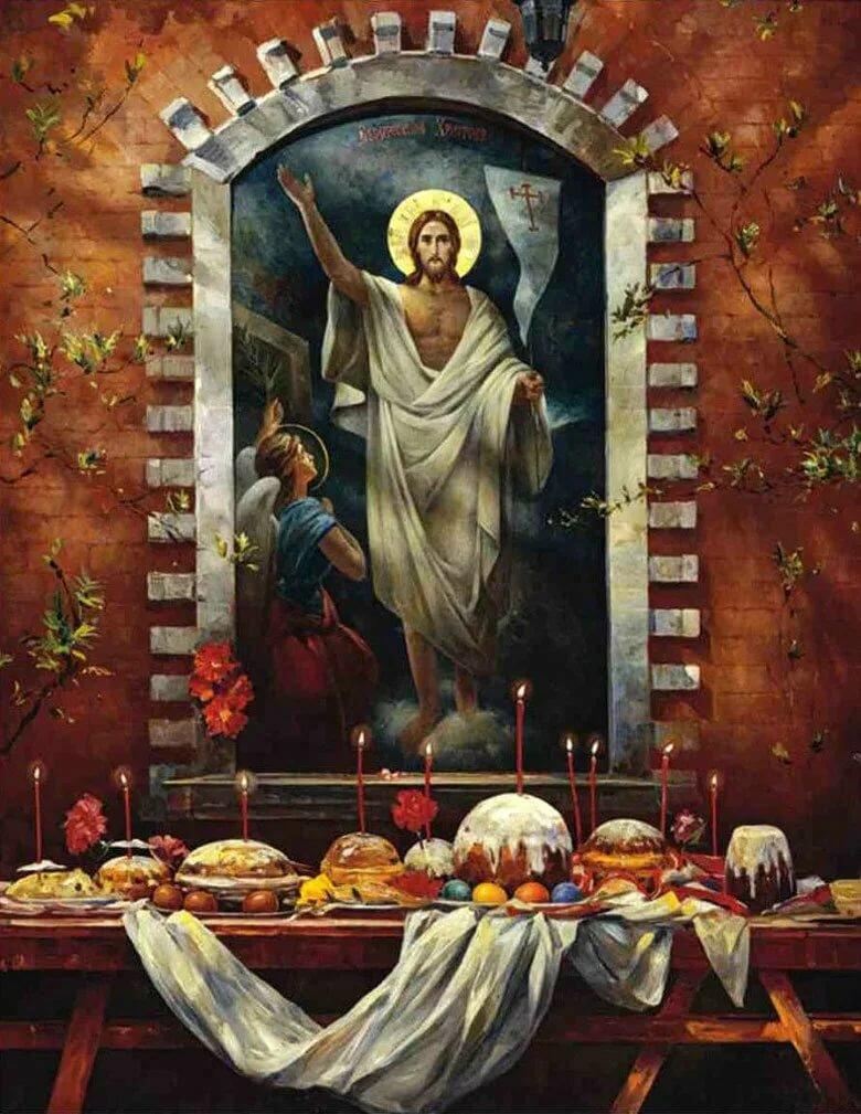пасхальные открытки с иисусом гостей приготовили