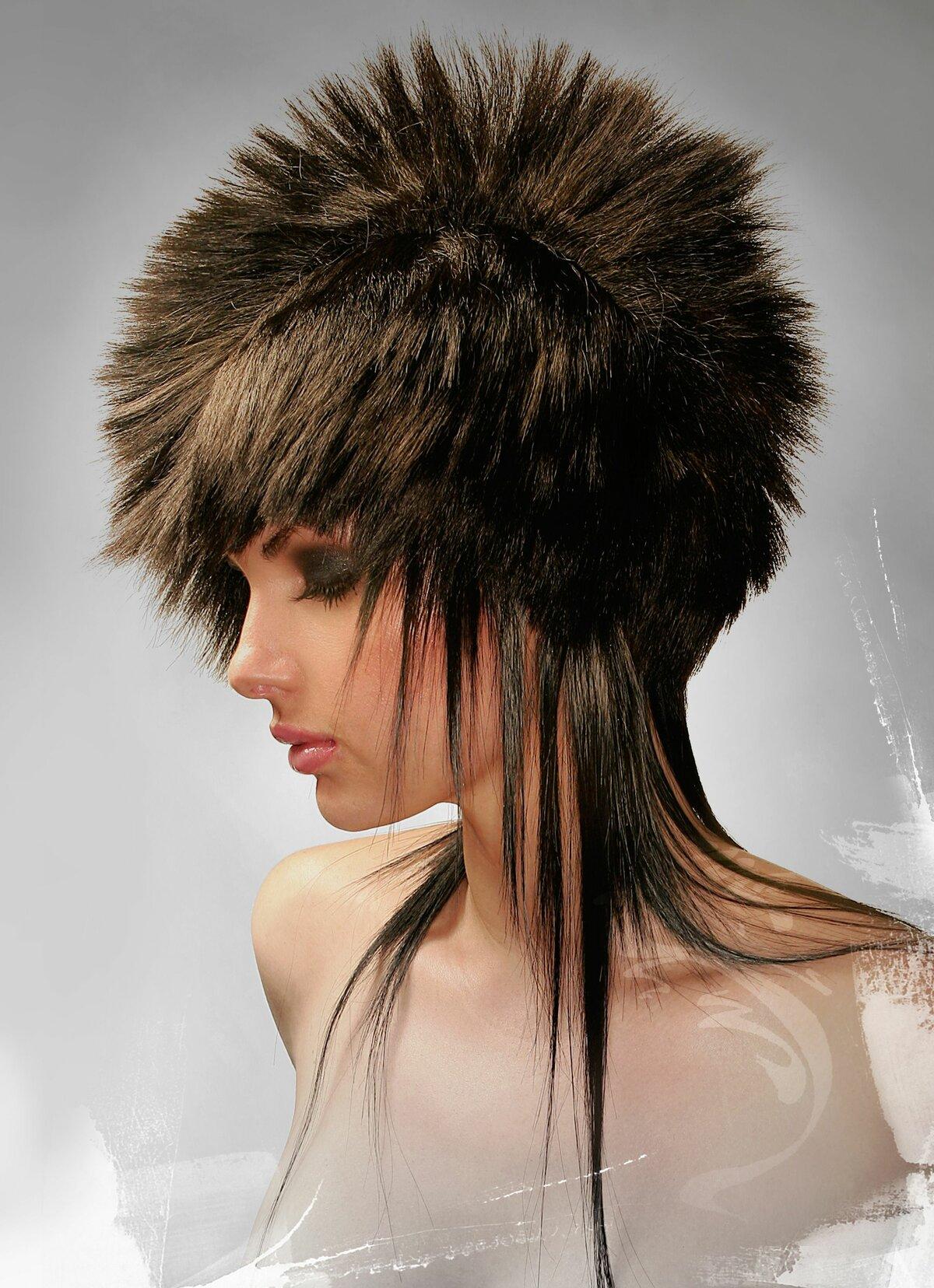 Креативные стрижки средних волос в картинках