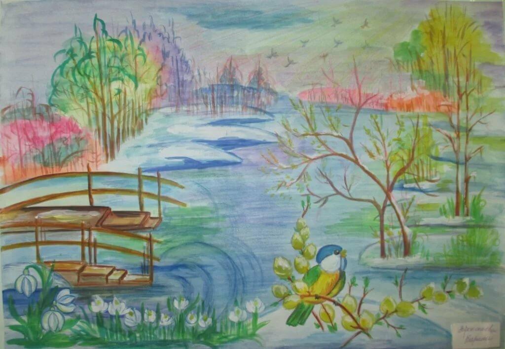 Картинки приход весны для срисовки