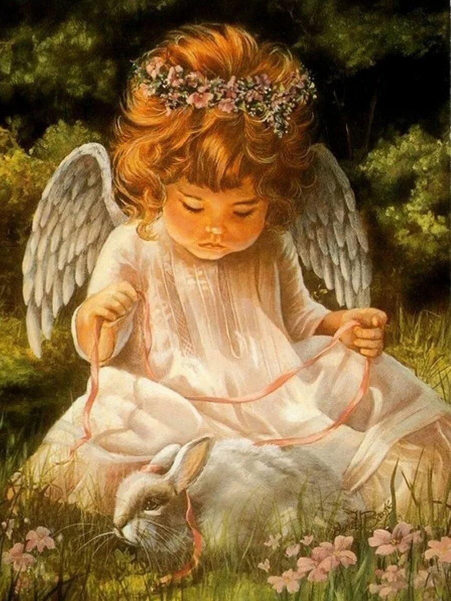 Днем, открытки красивые ангелы